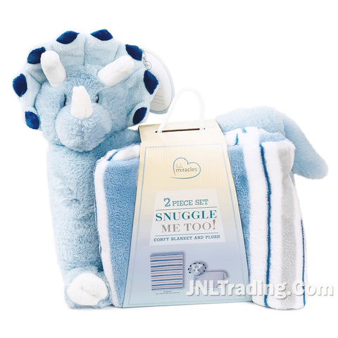 2 Pc Set Snuggle Me Too Comfy Soft Toddler/Baby Blanket & Plush Unicorn/Dog/Dino