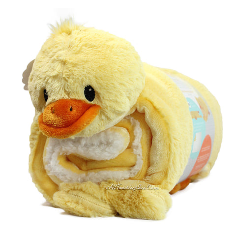 Little Miracles Snuggle Me Soft Cozy Cuddly Sherpa Blanket Plush Set DUCK