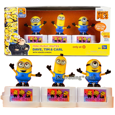 Despicable Me 3 Exclusive Series Mini Music-Mates Figure - DAVE, TIM and CARL with Voices and Music