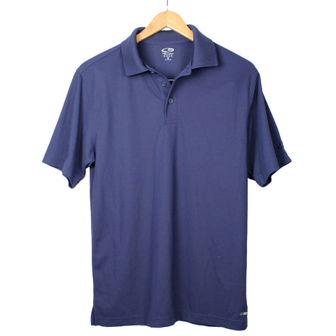 Purple XL Champion Double Dry Mens Solid-Color Polo Shirt