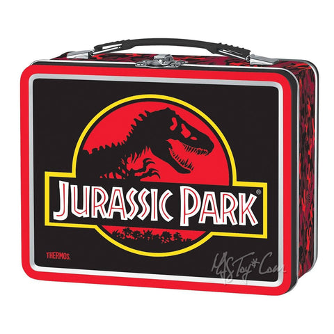 Thermos Metal Classic JURASSIC PARK TIN Lunch BOX Collector 25th Anniversary Collection