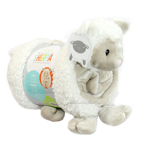 Little Miracles Snuggle Me Soft Cozy Cuddly Sherpa Blanket