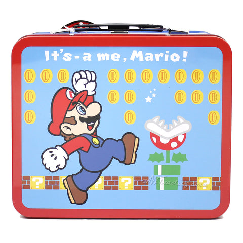Thermos Metal Classic Nintendo Mario Bros TIN Lunch BOX Collector Collection