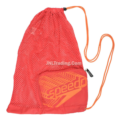 Speedo Trendy Packable Swim Gear/Sport/Equipment Mesh Bag Pink