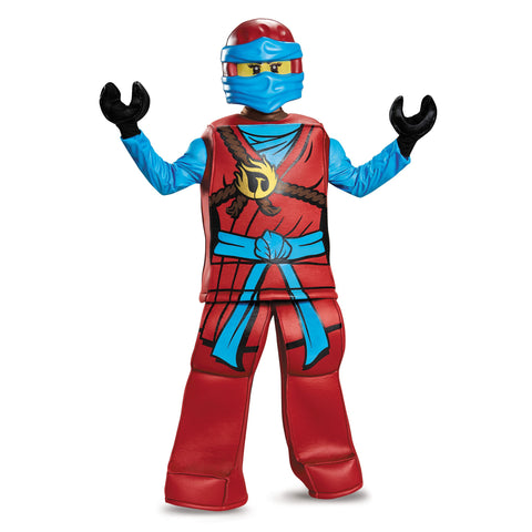 Licensed Lego Red Ninjago NYA Girl Complete Prestige Halloween Costume S or M