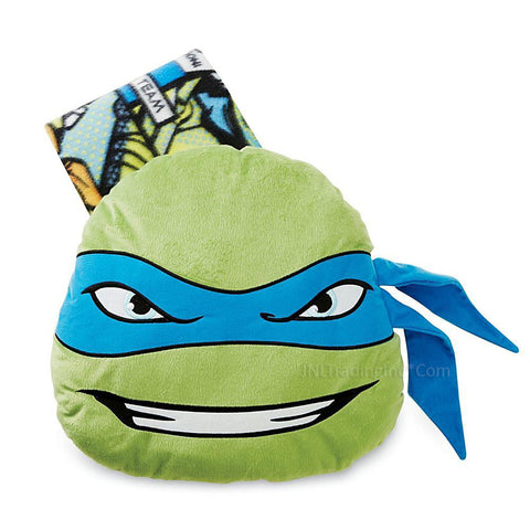 Teenage Mutant Ninja Turtles TMNT Leonardo Big Pillow Throw Blanket Combo Set