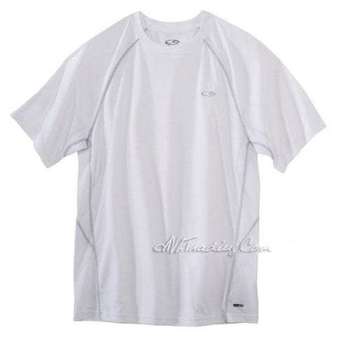 C9 Champion Men Ventilating Pieced White Tee Mesh Back Workout T-Shirt