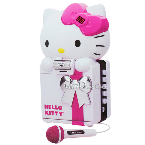 HELLO KITTY CD+G/MP3 Karaoke System Color Camera Recording SD USB Bluetooth