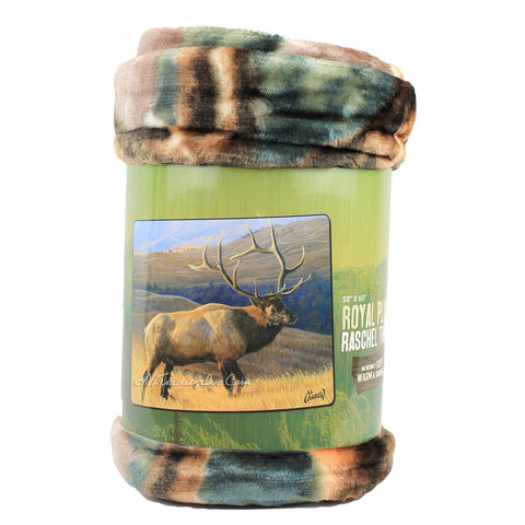 "American Heritage Royal Plush Raschel Throw Super Soft Warm Durable Blanket ""Looking for Love"" (ELK)"
