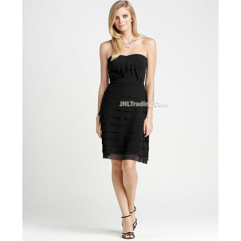 Ann Taylor Charming Beautiful TIERED A-LINE strapless stylish Black DRESS