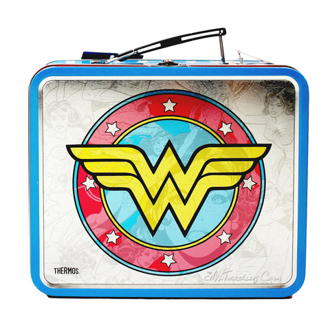 f6fd77a245fd ... Thermos Metal Wonder Woman TIN Lunch BOX Collector Classic Series  Collection