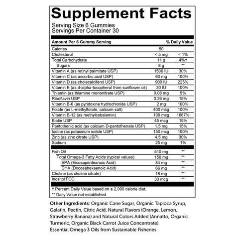 adult complete nutritional facts