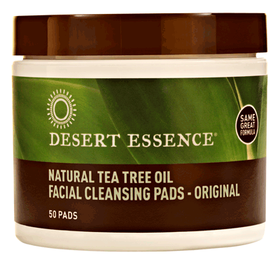 Desert Essence Natural Cleansing Pads with Tea Tree Oil