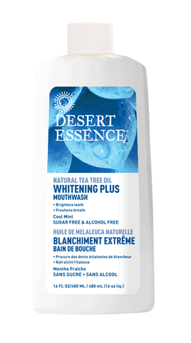 Desert Essence Whitening Plus Tea Tree Mouthwash
