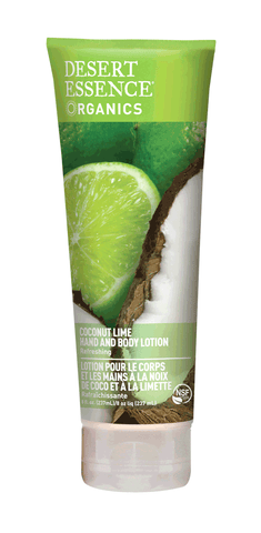 Desert Essence Coconut Lime Hand & Body Lotion