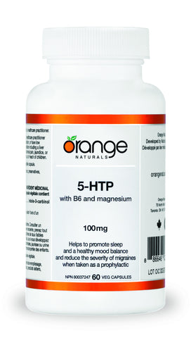 Orange Naturals 5-HTP 100 mg with B6 and Magnesium