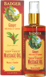 Badger Balm Ginger with Arnica & Cayenne Deep Tissue Massage Oil