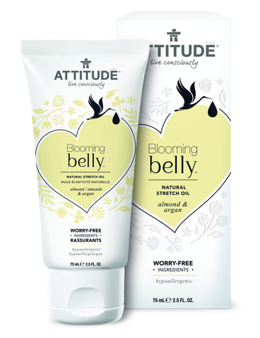 Attitude Blooming Belly Natural Stretch Oil Almond & Argan