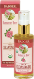 Badger Balm Damascus Rose Cleansing Oil For Delicate Skin