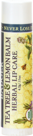 Badger Balm Classic Lip Care - Tea Tree & Lemon