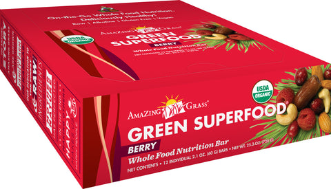 Amazing Grass Berry Green SuperFood Energy Bars box