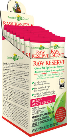 Amazing Grass Berry Raw Reserve SuperFood 15 x 8g