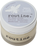 Routine Natural Deodorant Cream in Bonnie n Clyde (unscented)