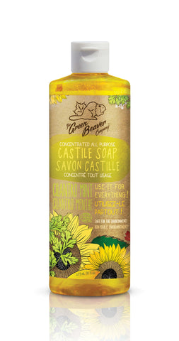 Green Beaver Sunflower Castille Cilantro Liquid Soap