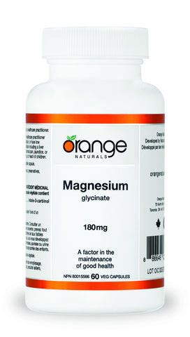Orange Naturals Magnesium Glycinate 180 mg