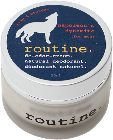 Routine Natural Deodorant Cream in Napoleon's Dynamtie Scent