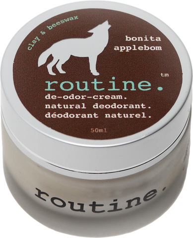 Routine Natural Deodorant Cream in Bonita Appleborn Scent