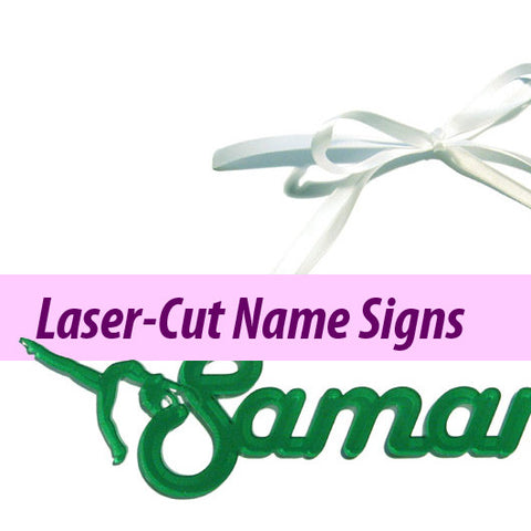 Laser-Cut Name Signs