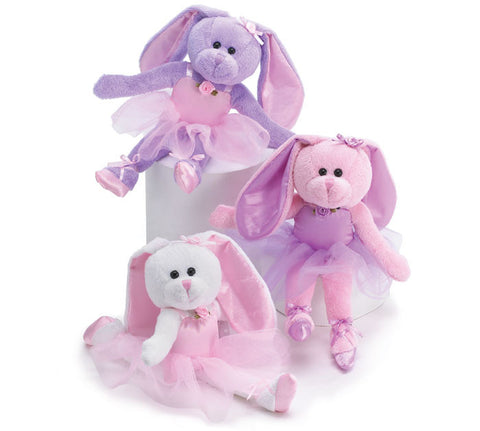 "10"" Plush Ballerina Bunnies - Ballet Gift Shop"