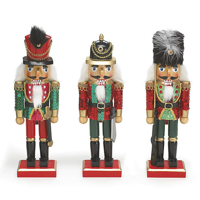 "10"" Sequined Nutcrackers"