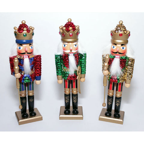 "10"" Sequined King Nutcrackers - Ballet Gift Shop"