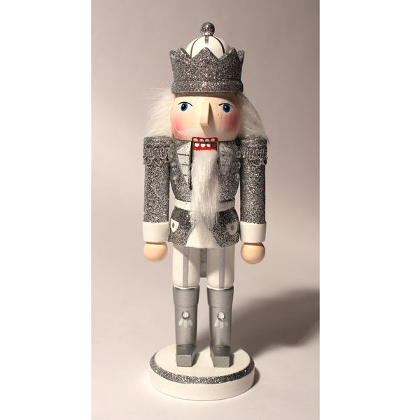 "10"" Glittery Silver King Nutcrackers"