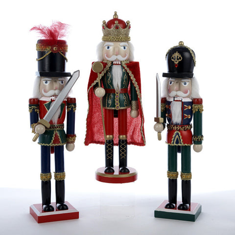 "15"" Nutcrackers with White Hair"