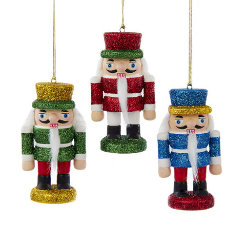 "3.5"" Glittery Porcelain Nutcracker Ornaments - Ballet Gift Shop"