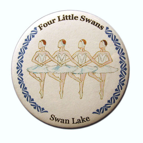 Four Little Swans Button / Magnet