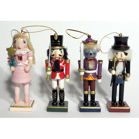 "5"" Nutcracker Ballet Character Ornaments (With Pink Clara) - Ballet Gift Shop"