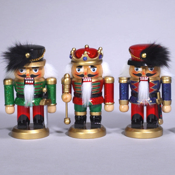 "5"" Chubby Glittery Nutcrackers - Ballet Gift Shop"