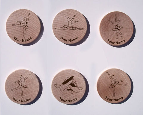 Ballet Maple Magnet Set of 6
