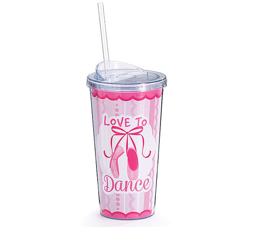 Love to Dance Ballet 20 oz. Travel Cup - Ballet Gift Shop