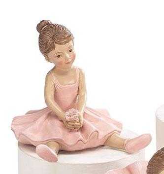 Resin Pink Ballerina Figurines