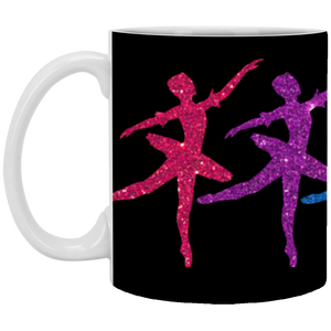 11 oz. Glittery Ballerina Mug (Choose from 2 colors)