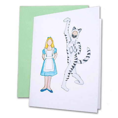 Alice & Cheshire Cat Note Cards - Ballet Gift Shop