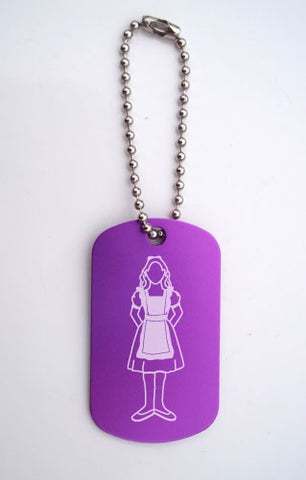 Alice in Wonderland Dance Bag Tag