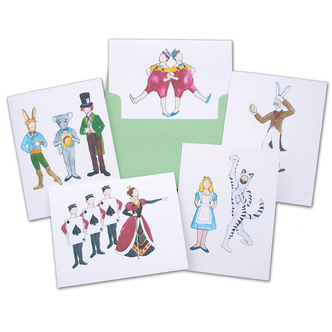 Alice in Wonderland Assorted Note Card Set