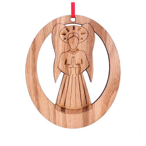 Angel Laser-Etched Ornament - Ballet Gift Shop