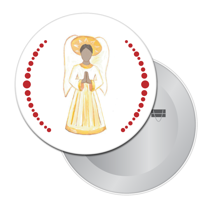 Angel (African-American) Button / Magnet